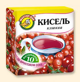 """Кисель """"Клюква + 10 витаминов"""" 220 гр"""