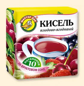 """Кисель """"Плодово-ягодный + 10 витаминов""""  220 гр"""