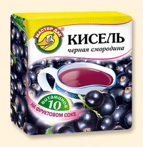 """Кисель """"Черная смородина + 10 витаминов"""" 220 гр"""