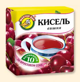 """Кисель """"Вишня + 10 витаминов"""" 220 гр"""