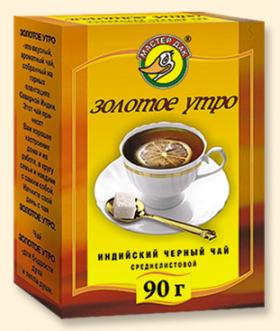"""Чай черный среднелистовой """"Золотое утро"""" 90 гр"""