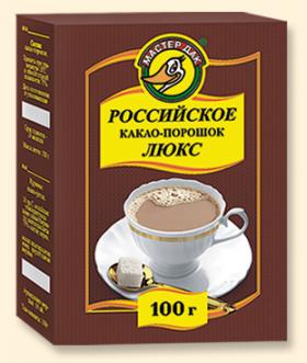 """Какао  порошок """"Российское"""" 100 гр"""