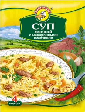 Суп мясной с макаронными изделиями 60 гр