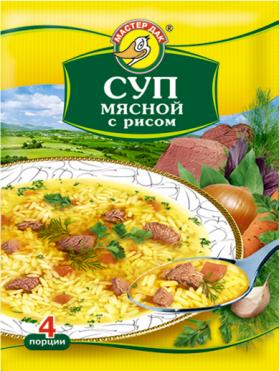 Суп мясной с рисом 60 гр