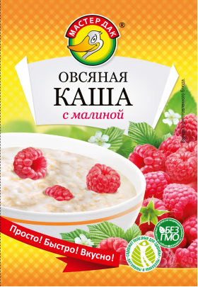 Овсяная каша со вкусом малины 35 гр.